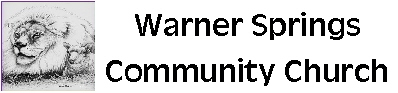 Warner Springs Community Church